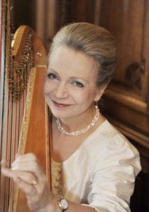 Jane Lister harpist portrait