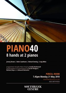 Piano40 at the Purcell Room