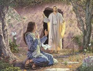 Mary encounters the risen Christ